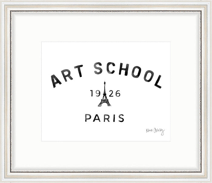 kara ashley, graphic, illustration, vintage, college, art school paris 1926 art print