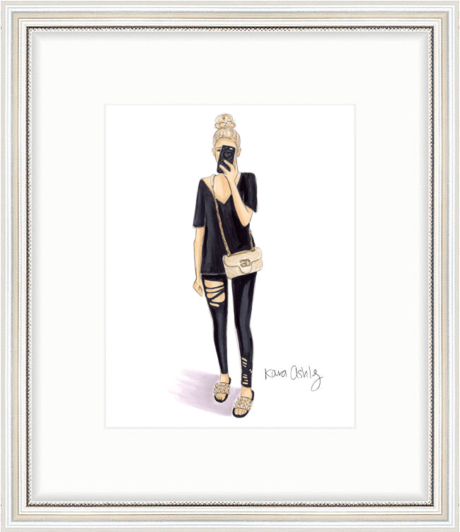 kara ashley, shreeve, artwork, illustration,design, gucci, style, fashion, all black, black, instagram, sabina lynn