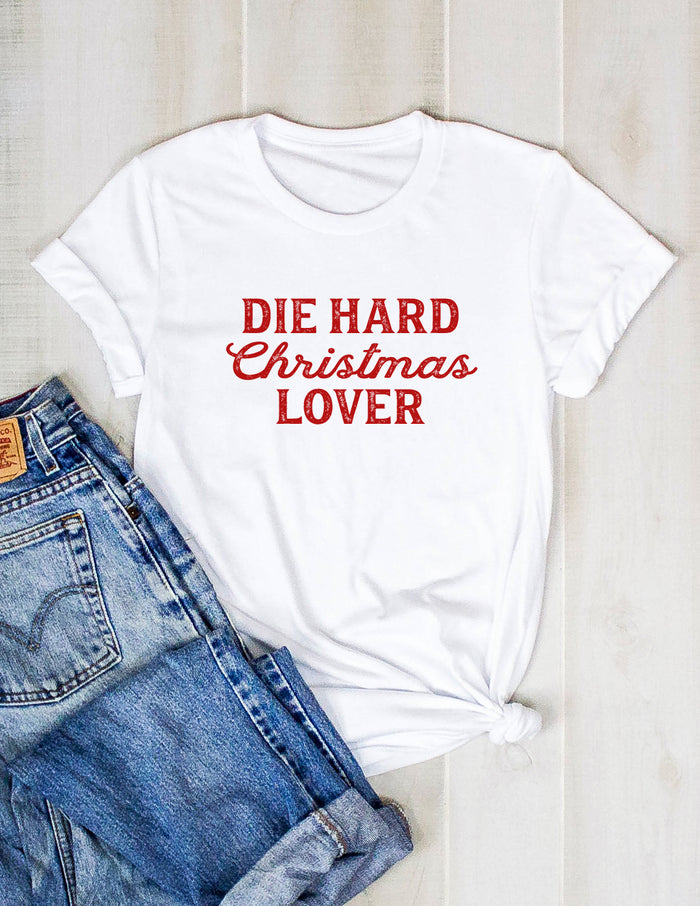 die hard tee, shirt, movie, christmas, funny, holiday, kara ashley