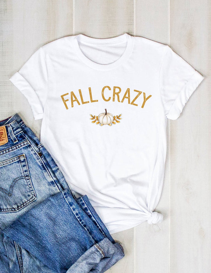 kara ashley, tee, fall, crazy, pumpkin, autumn, text, graphic