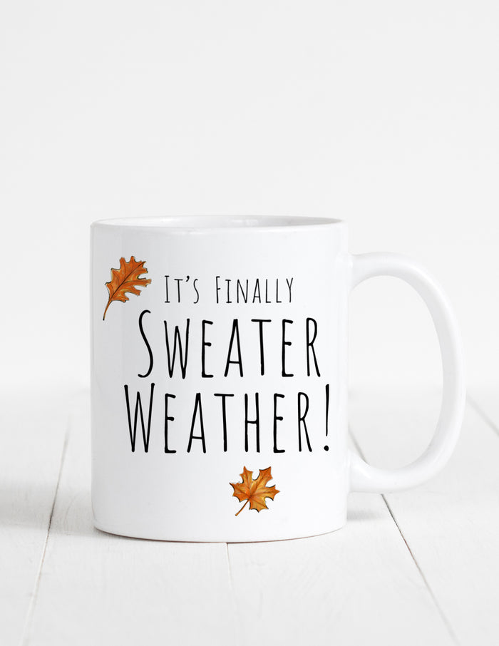 kara ashley, illustration, artwork, mug, fall, sweater weather, leaves