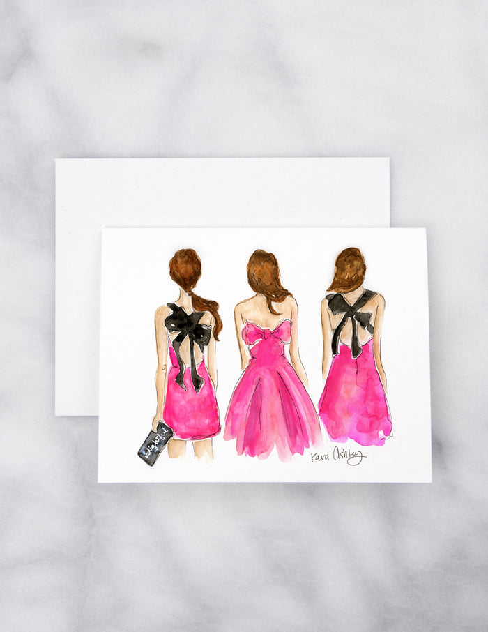 Kate Spade Bows Greeting Card