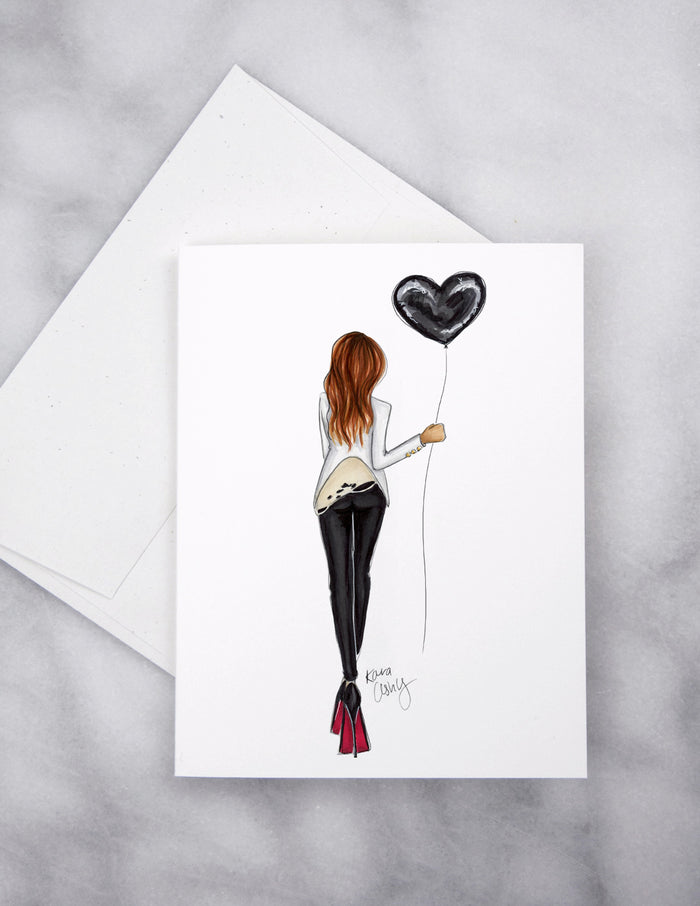 Rocker Heart Greeting Card