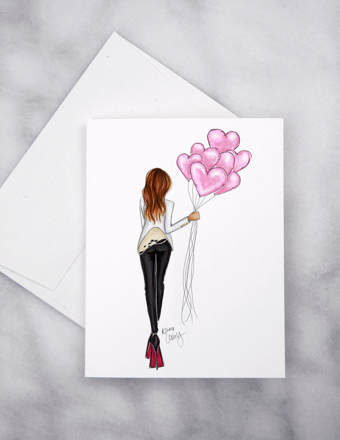 Sweetheart Balloon Delivery Greeting Card