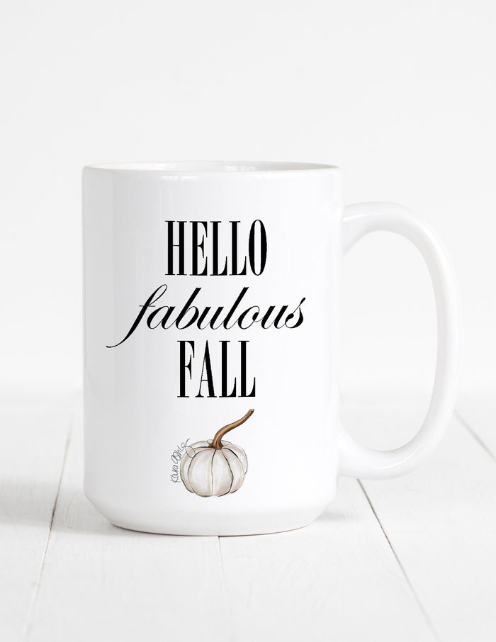 kara ashley, fall, pumpkin, mug, text, graphic, cute, pumpkin spice, psl, hello fabulous fall