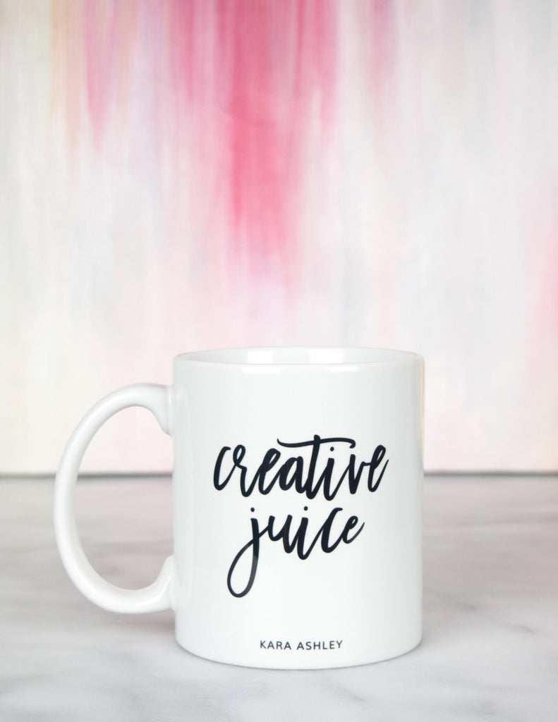 kara ashley, design, mug, fashion, girl boss, office, creative juice, abstract art