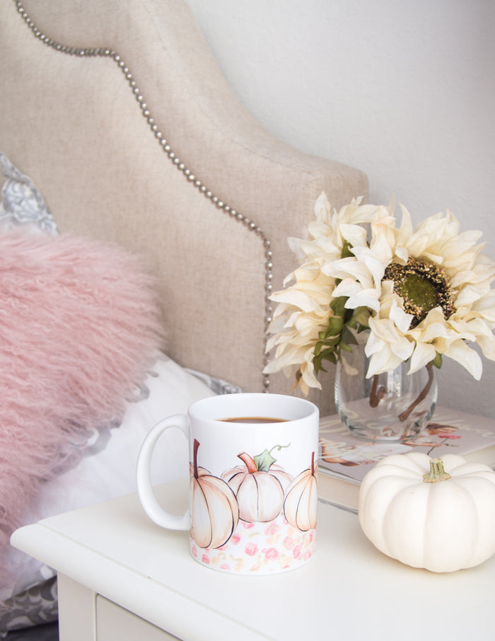 White Pumpkin Patch Mug
