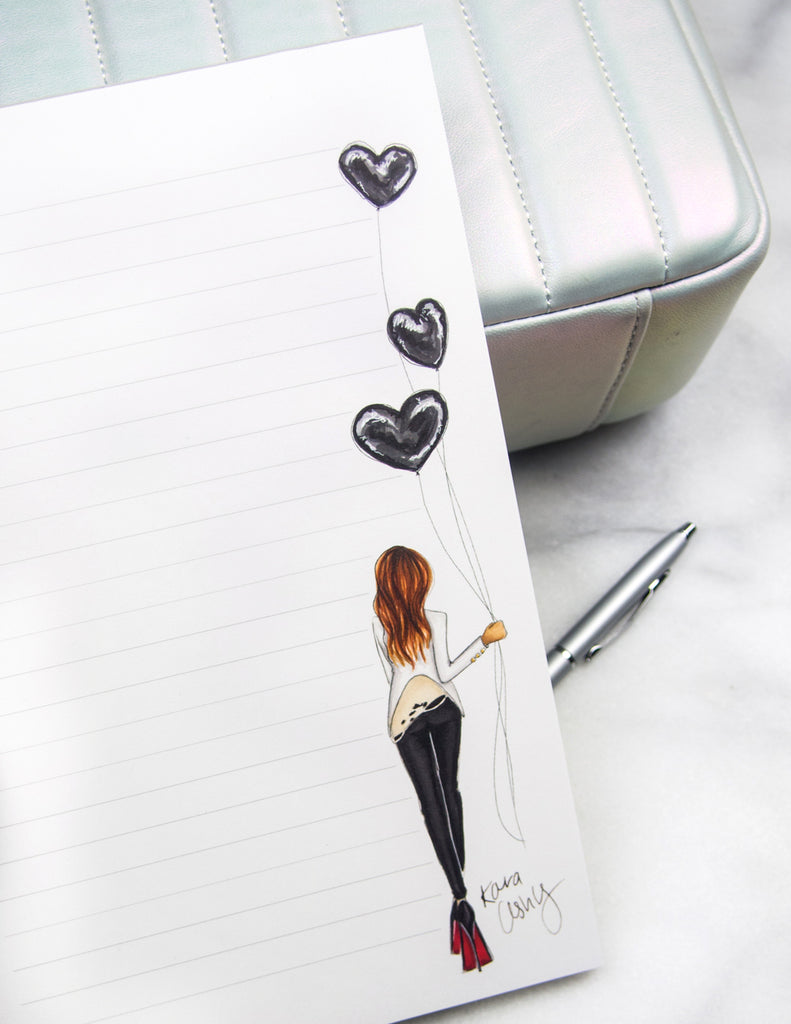 Rocker Hearts Notepad