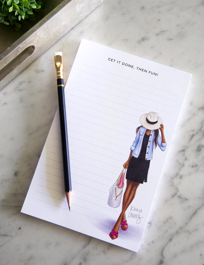 kara ashley, shreeve, design, art, illustration, notepad, fedora, done then fun, summer, outfit, fashion girl, louis vuitton, neverfull, damier azur