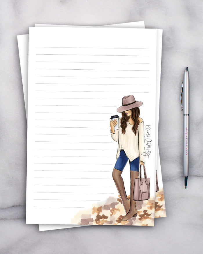 Fall Girl Notepad