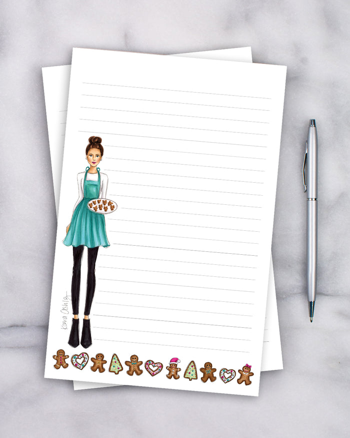 Gingerbread Baker Notepad