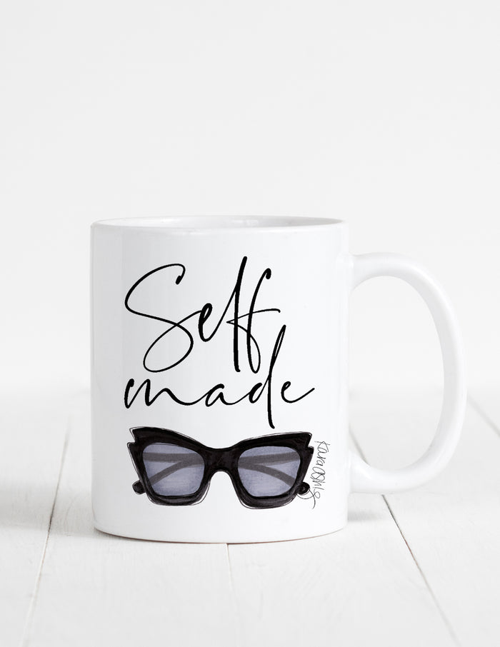 kara ashley, illustration, artwork, mug, text, boss, self made, motivational