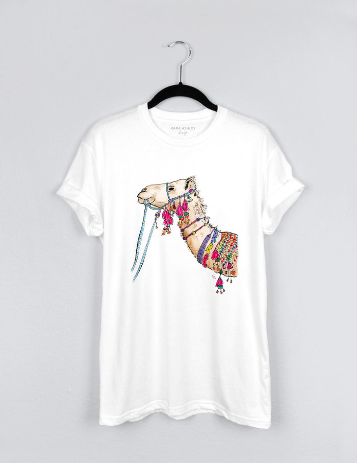 kara ashley, design, t shirt, shirt, illustration, tee, fancy, camel, graphic
