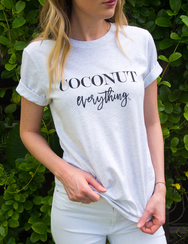 kara ashley, shreeve, design, art, illustration, shirt, tee, t shirt, coconut, summer, coconut everything, tropical, megan endres