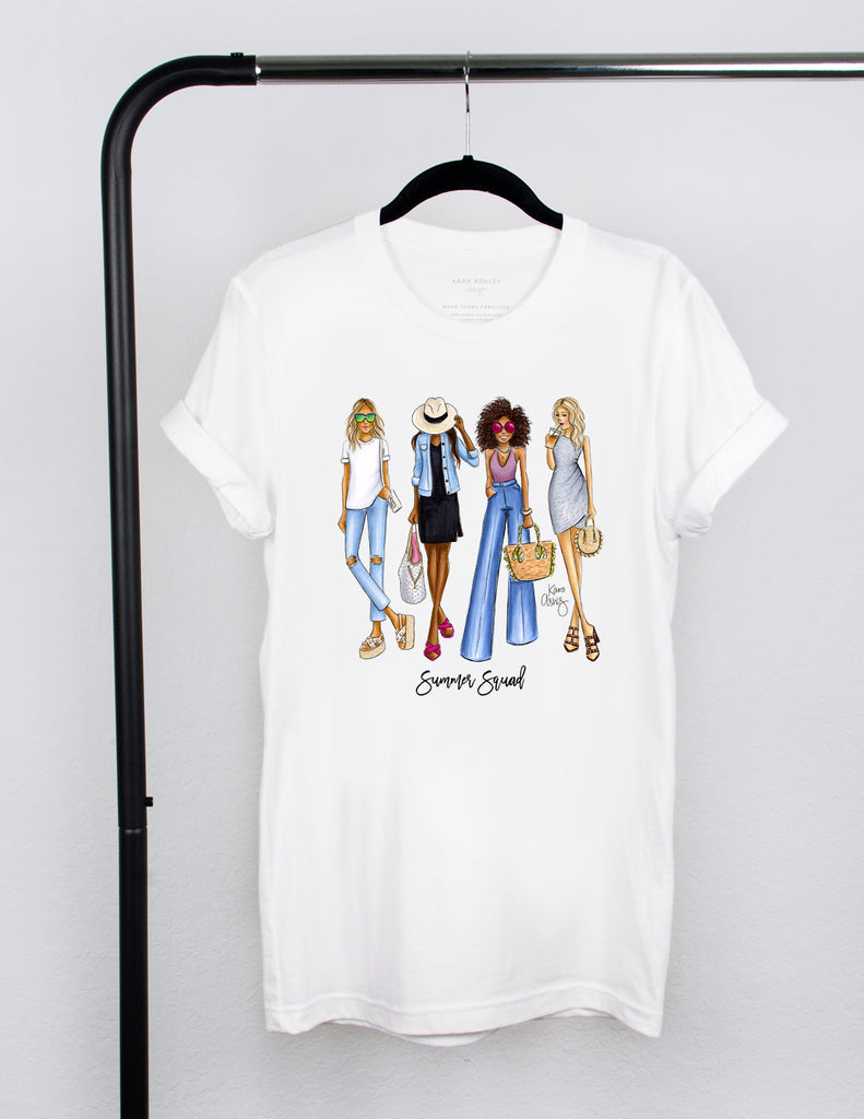 kara ashley, shreeve, design, art, illustration, shirt, tee, t shirt, summer, squad, fashion girls