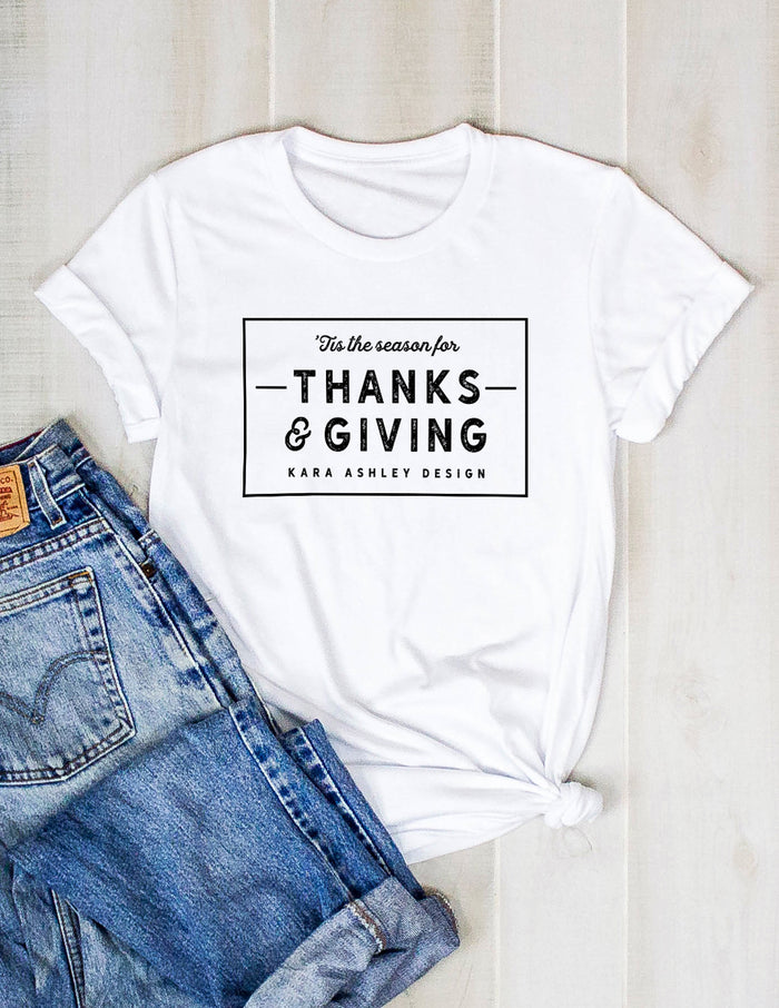 kara ashley, thanksgiving, thanks, giving, tee, shirt, fall, holiday, grateful