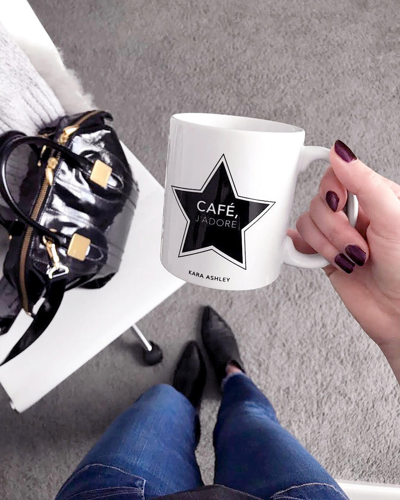 kara ashley, shreeve, design, star, j'adore, cafe, mug, instagram, rachel zoe, morrison, marc fisher, boots