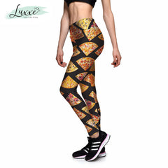 Pizza Party Stretch-Fit Leggings