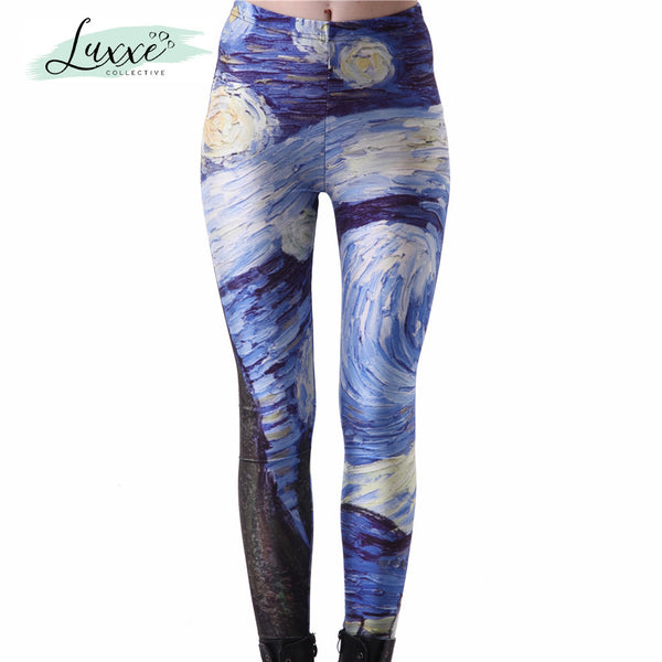 Van Gogh Yoga Pants