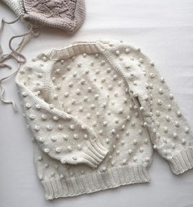 Popcorn Sweater - Natural (SIZE 2Y)
