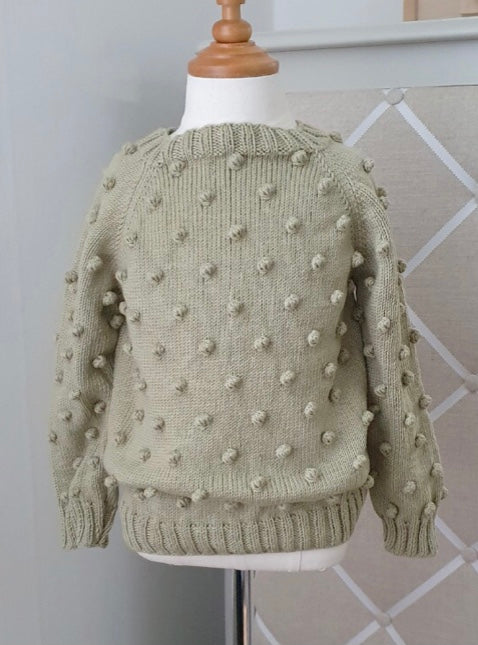 Popcorn Sweater - Sage Green