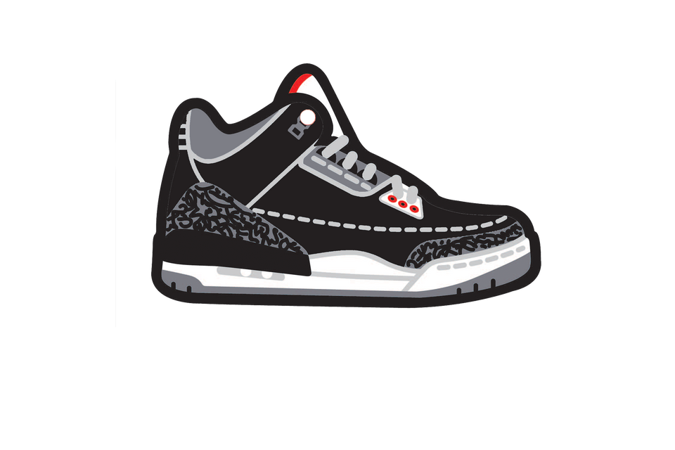 Black Cement 3's Air Freshener - Fresh Heir LLC