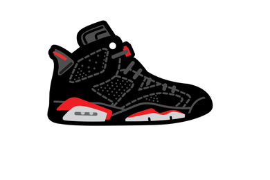 Black Infrared 6's Air Freshener - Fresh Heir LLC