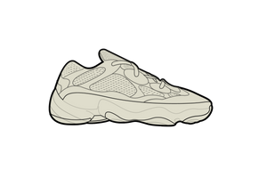 Yeezy Bone White 500 Sneaker Air Freshener