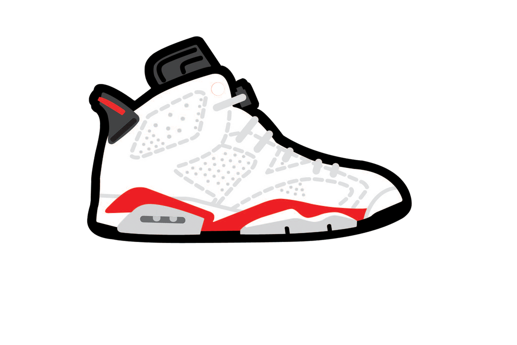 White Infrared 6's Air Freshener - Fresh Heir LLC