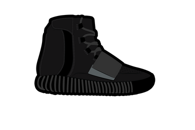 Black Yeezy 750 Air Freshener