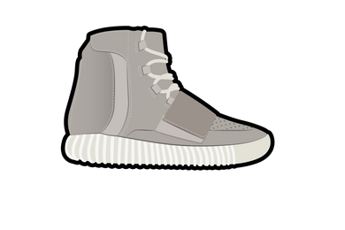 Gray Yeezy 750 Air Freshener