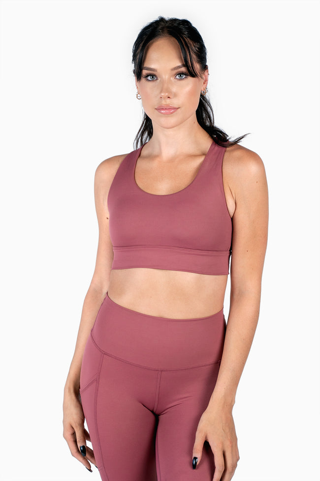 All Day Sports Bra - Dusty Rose