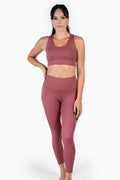 Reign 7/8 Legging - Dusty Rose