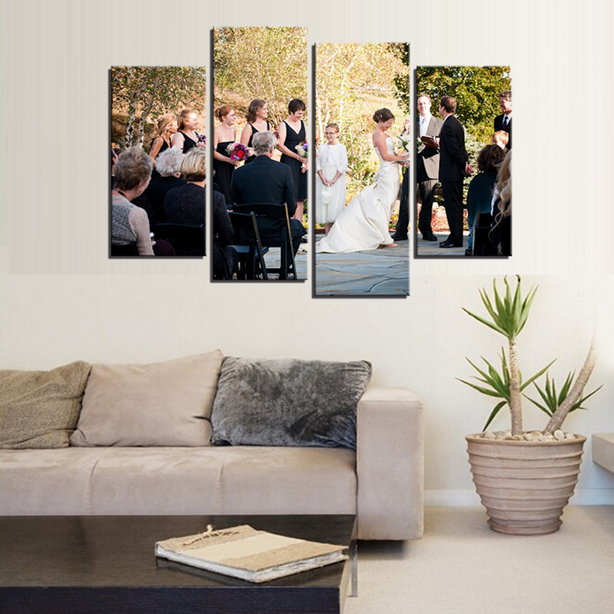 custom wedding photo canvas print