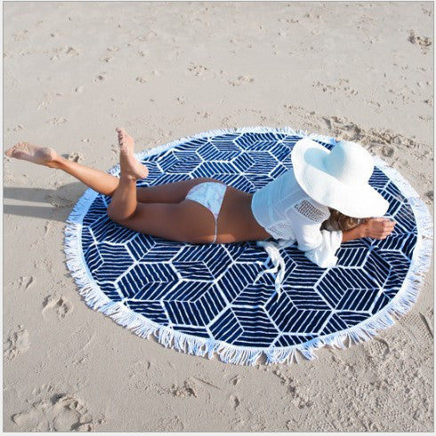 Polygon Stripes Beach Mat