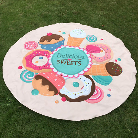 Delicious Sweets Beach Mat