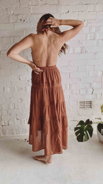 PLEATS VOILE SKIRT