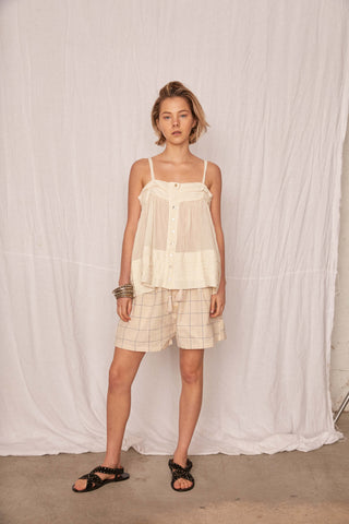 PLEATS VOILE TOP