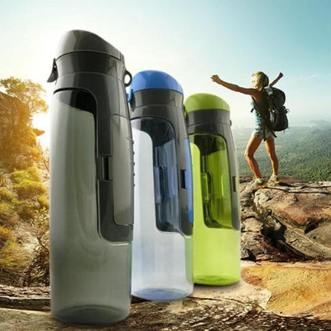 Sports Water Bottle With Storage Compartment