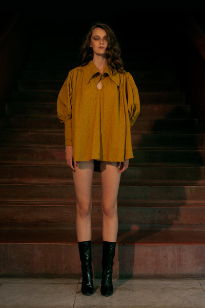 Poet Blouse in Mustard