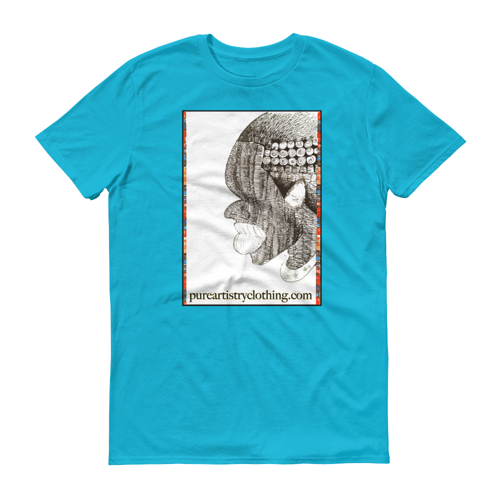 Etched Contemplate T-shirt - Blue (Unisex)