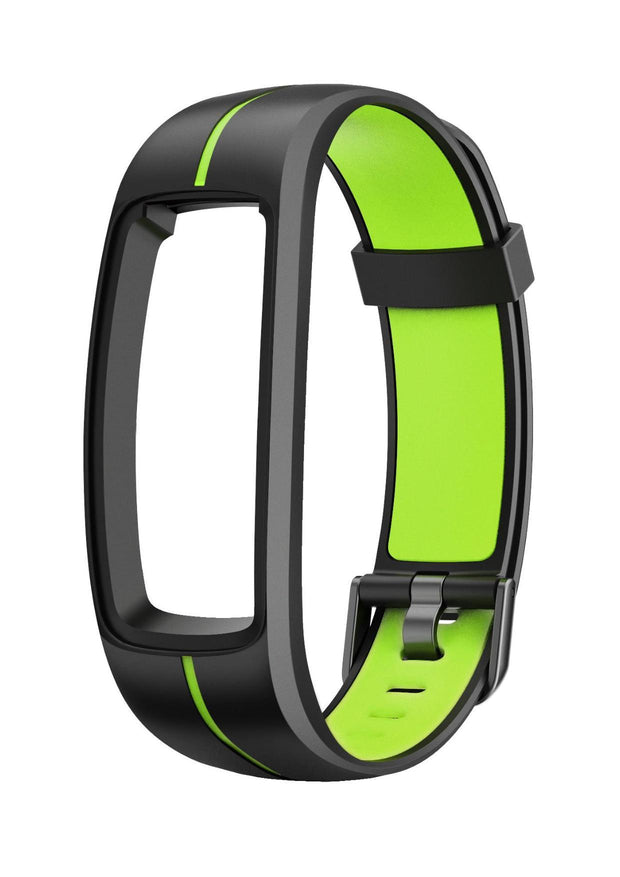Stride - Interchangeable Smartwatch Band - Black / Green band for CAC-111-M12 Bands Cactus Watches