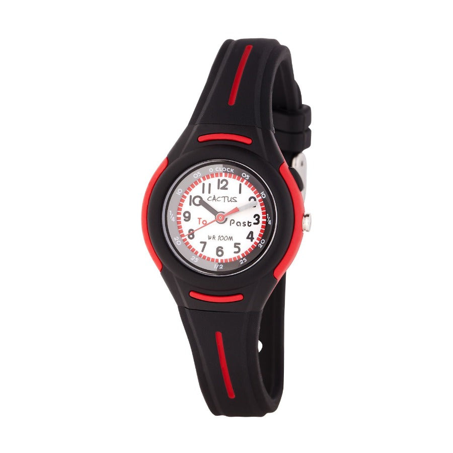 Petite - Time Teacher Watch for Kids - Black Watches shop cactus watches