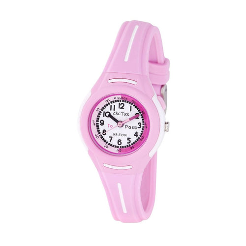 Petite - Time Teacher Watch for Kids - Pink Watches shop cactus watches