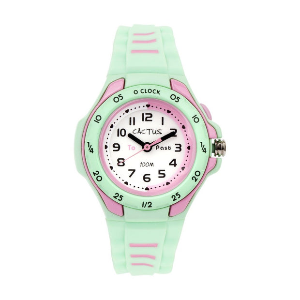 Mentor - Time Teacher Watch for Kids - Mint Green Watches shop cactus watches