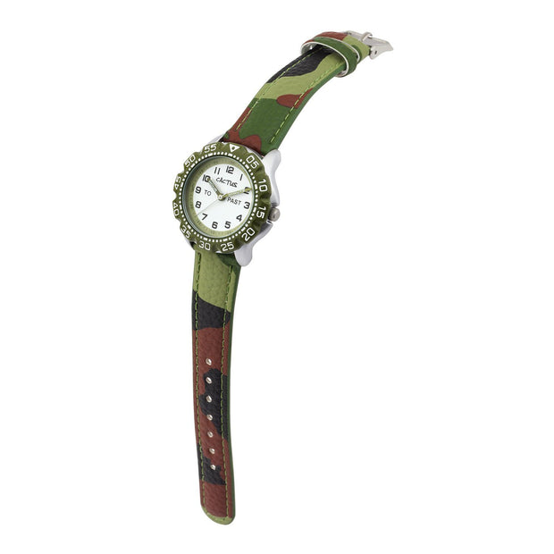 Master - Kids Time Teacher Watch - Camouflage Watches shop cactus watches
