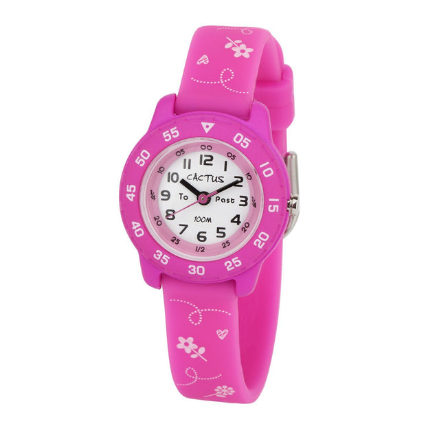 Junior - Time Teacher - Pink / flowers Watches shop cactus watches