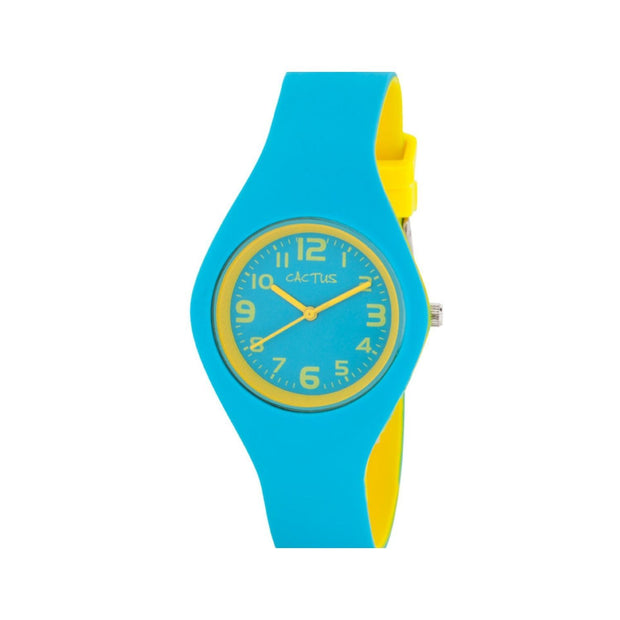 Duplex - Kids Watch - Aqua / Yellow Watches shop cactus watches