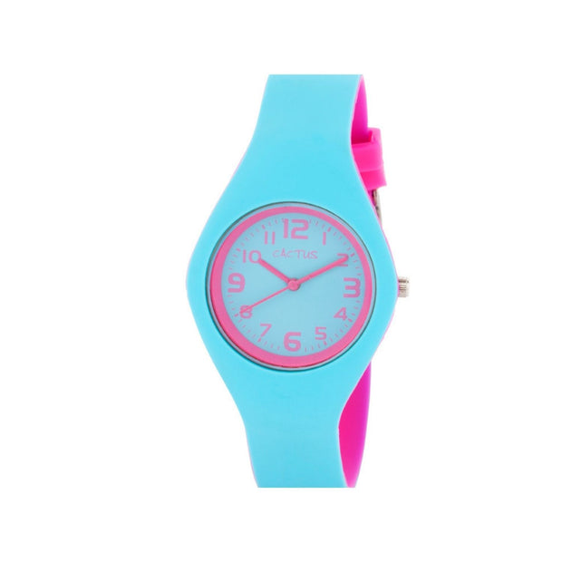 Duplex - Kids Watch - Blue / Hot Pink Watches shop cactus watches
