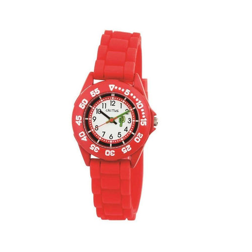Beach Bright - Sports Kids Youth Watch - Red Cactus Watches